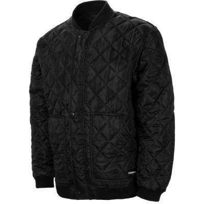 Men's Extra-Large Black Ice Quilted and Lined Diamond Supreme Bomber Jacket