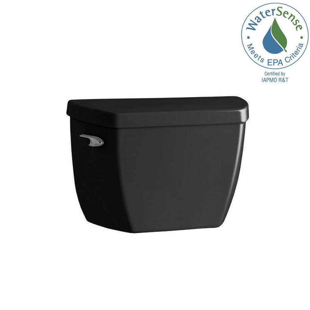 Highline 1.0 GPF Single Flush Toilet Tank Only in Black
