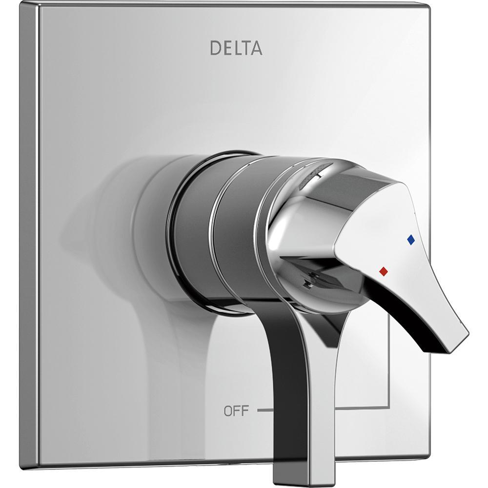 Delta Zura 1-Handle Valve Trim Kit in Chrome (Grey) (Valve Not Included)