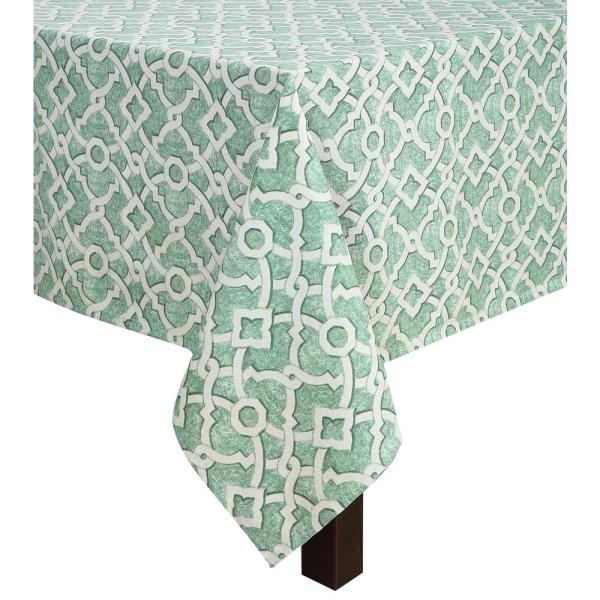 Undefined 60 In. X 102 In. Waverly Lexie Indoor/Outdoor Tablecloth