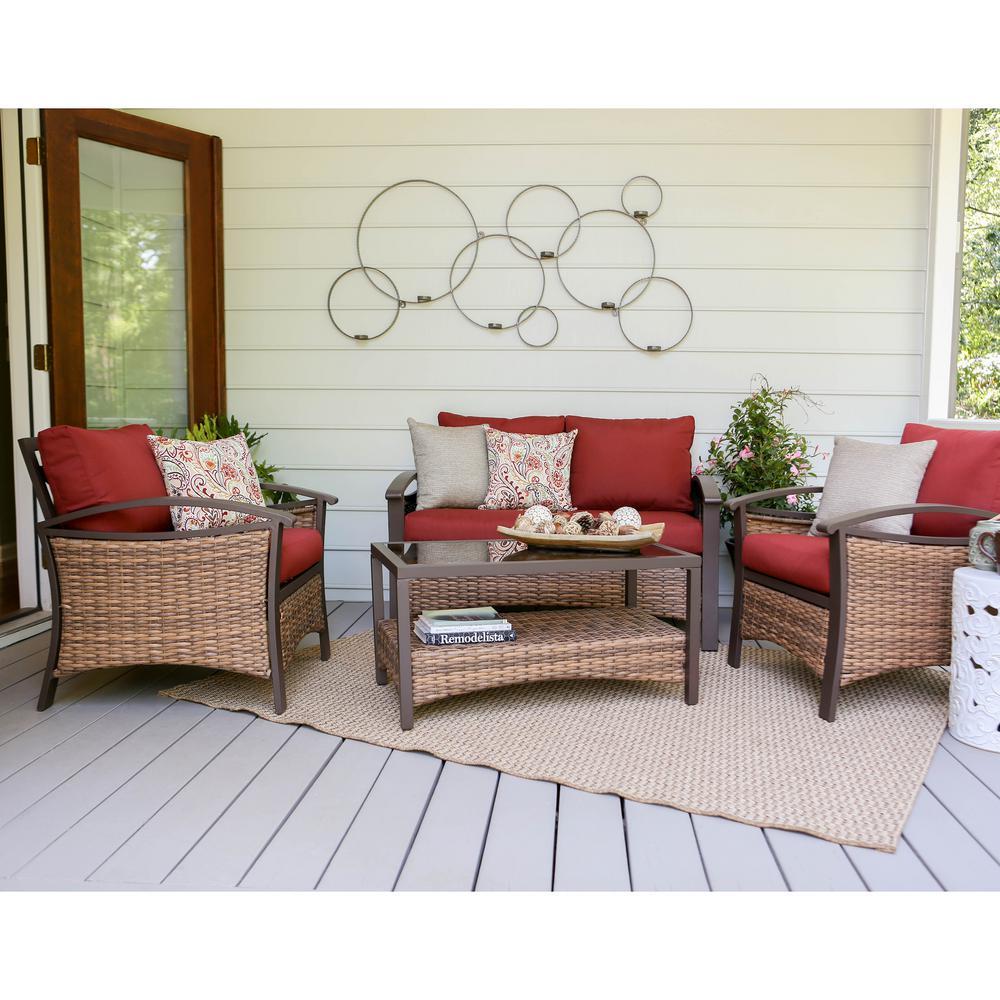 Wicker Conversation Set Red Thompson Furniture Sets