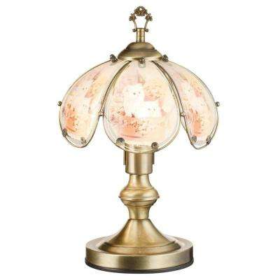 Multicolored touch sensor table lamps lamps the home depot brushed gold pure kitten touch lamp aloadofball Image collections