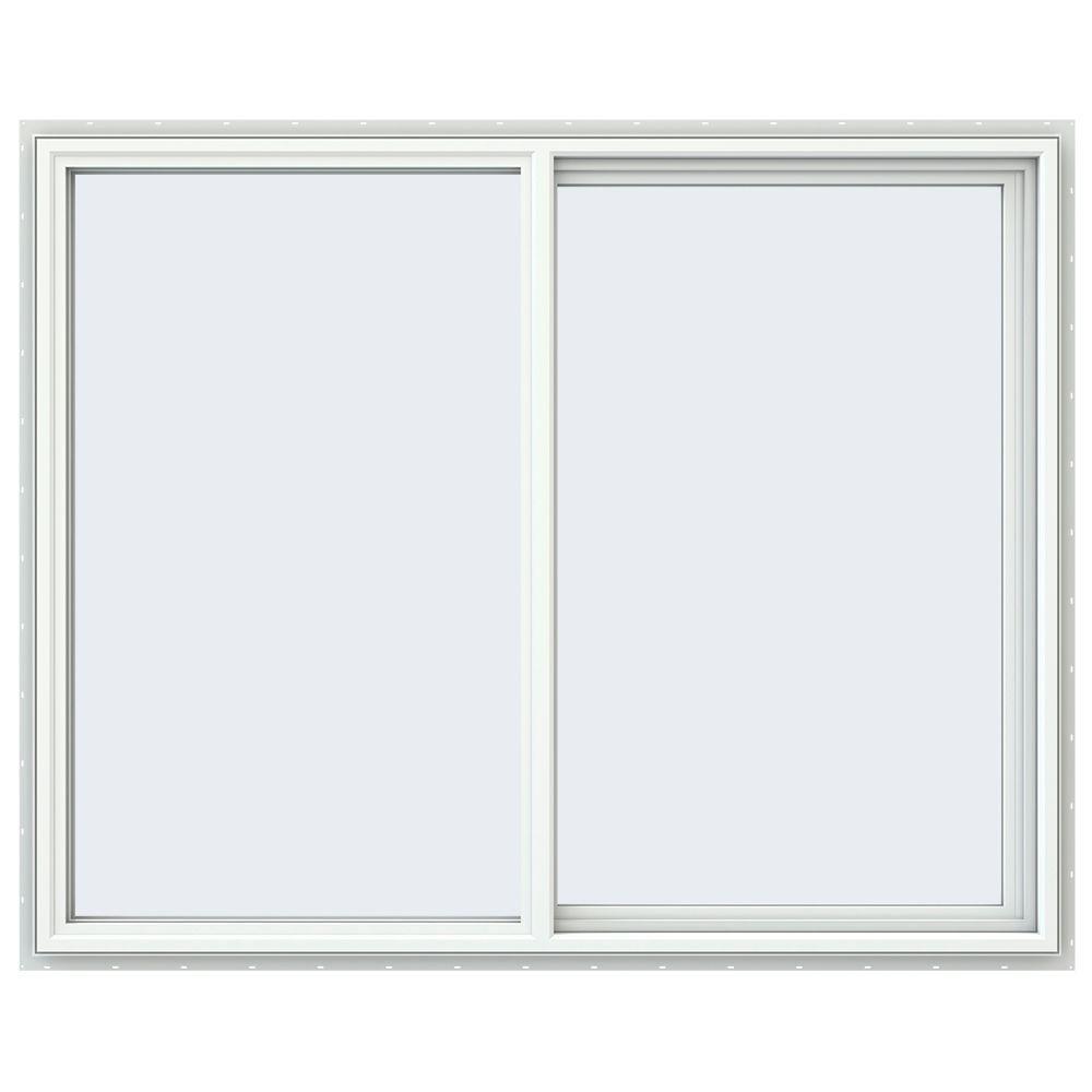 JELD-WEN 59.5 in. x 47.5 in. V-4500 Series Right-Hand Sliding Vinyl Windows - White
