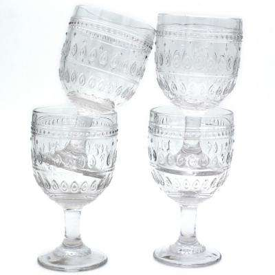 Fez 4-Piece 12 oz. Clear Wine Glass Set