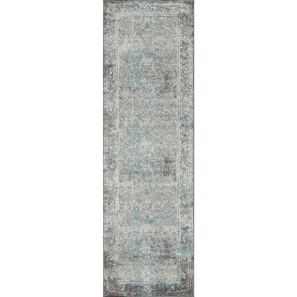 Momeni Luxe Turquoise 2 ft. x 8 ft. Indoor Runner Rug