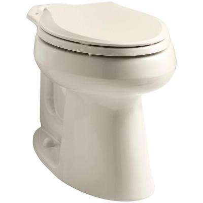 Highline Comfort Height Elongated Toilet Bowl Only in Almond