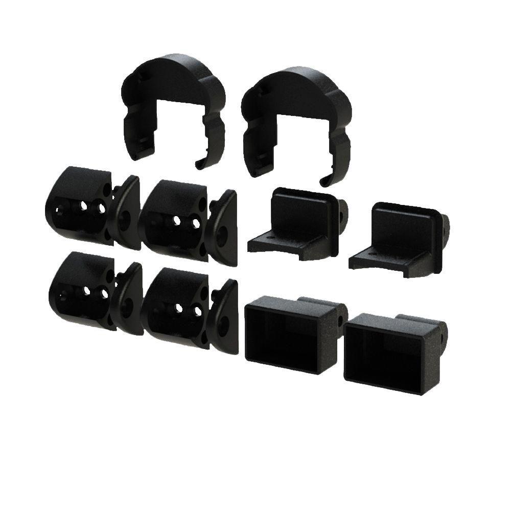 Pellinore Satin Black Stair Bracket Kit