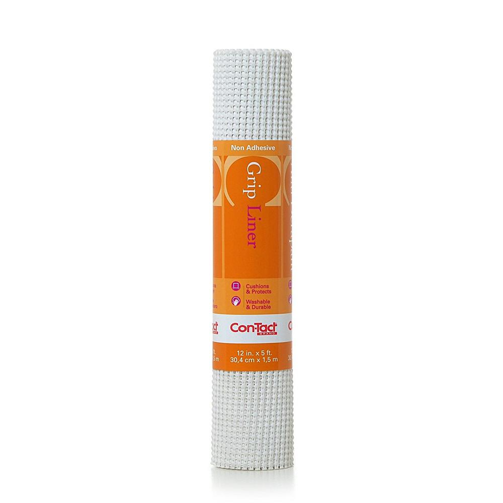 Beaded Grip 12 in. x 5 ft. White Non-Adhesive Drawer and
