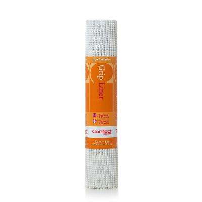 Beaded Grip 12 in. x 5 ft. White Non-Adhesive Drawer and Shelf Liner (6 Rolls)