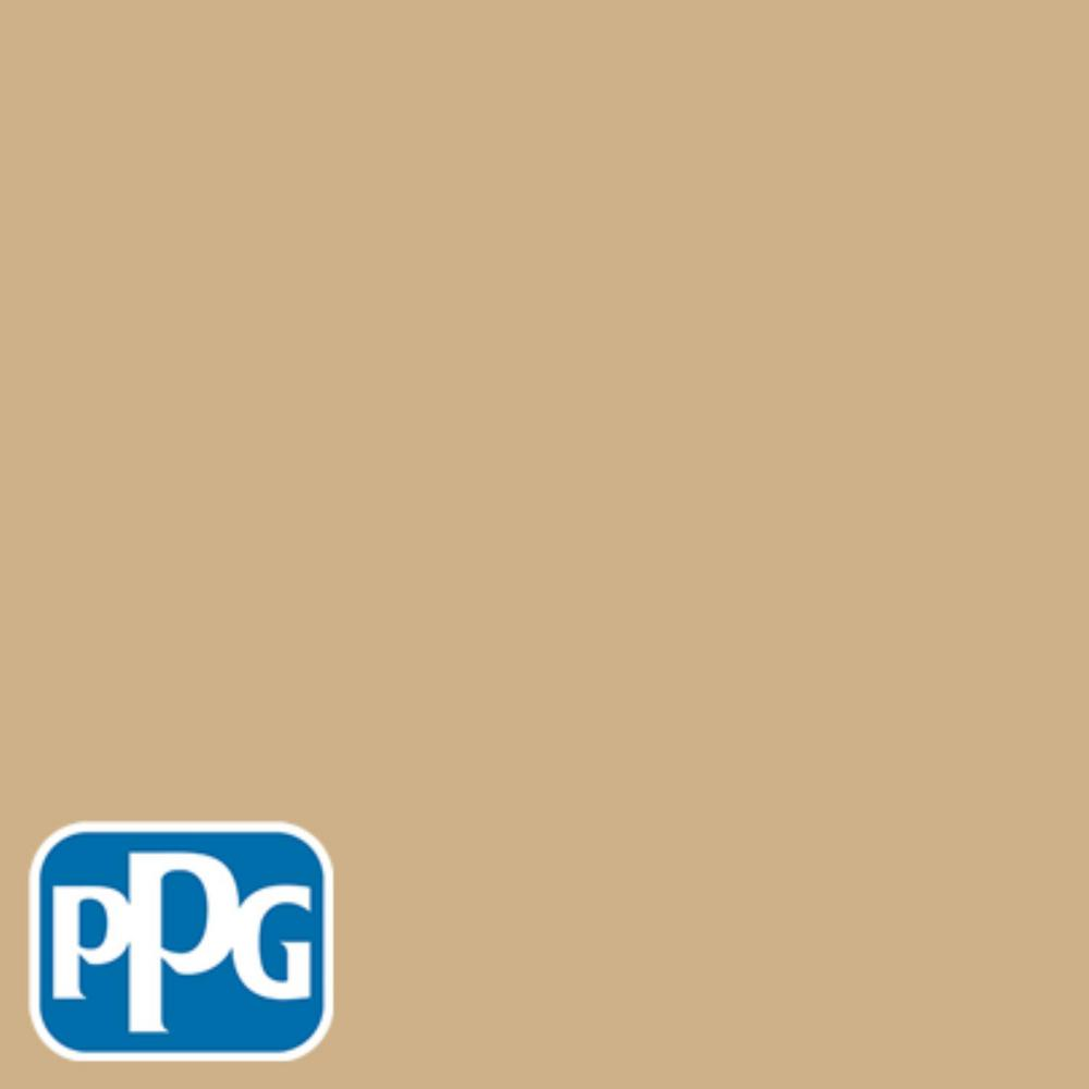 PPG TIMELESS 8 oz. #HDPPGY12D A Touch Of Gold Satin Interior/Exterior Paint Sample