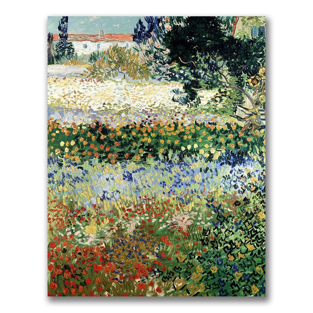 Trademark Fine Art 32 in. x 26 in. Garden in Bloom Canvas Wall Art