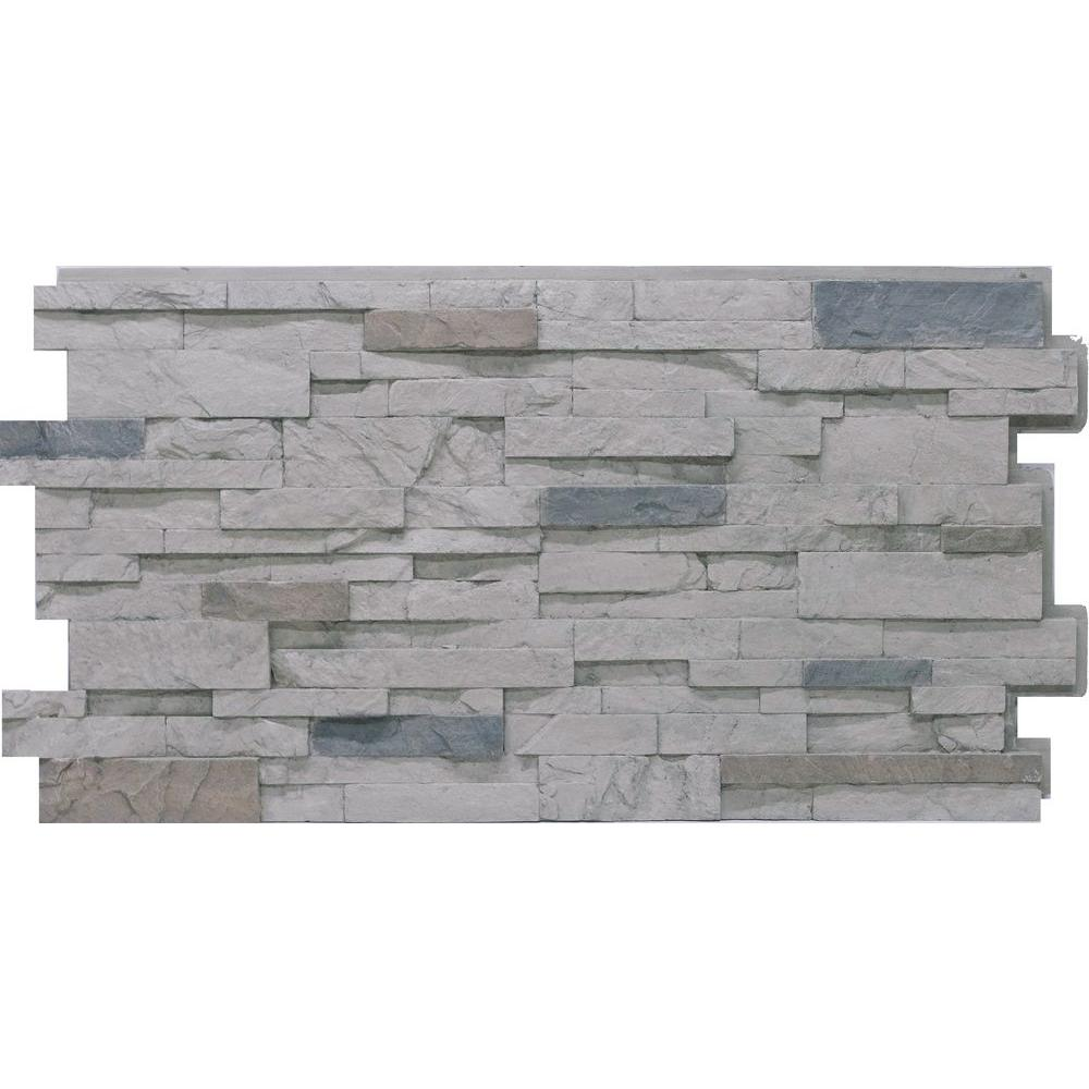 Urestone Stacked Stone 60 Cascade Canyon 24 In X 48 In Stone Veneer Panel 4 Pack Dp2625 60