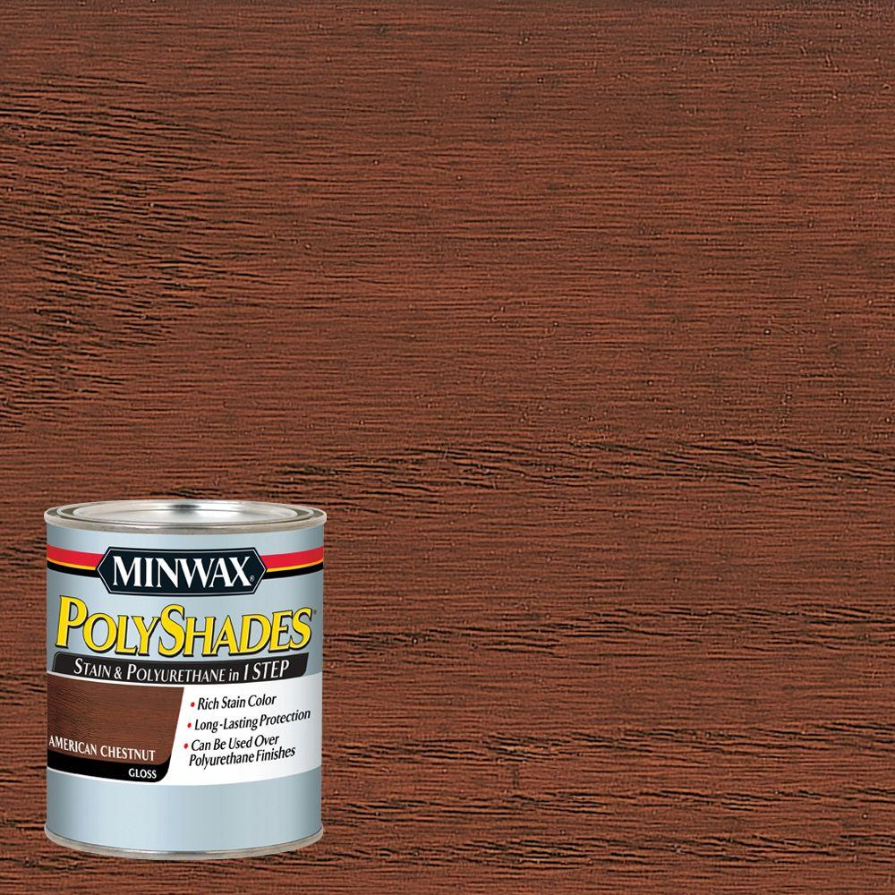 1 qt. PolyShades American Chestnut Gloss 1-Step Stain and Polyurethane (4-Pack)