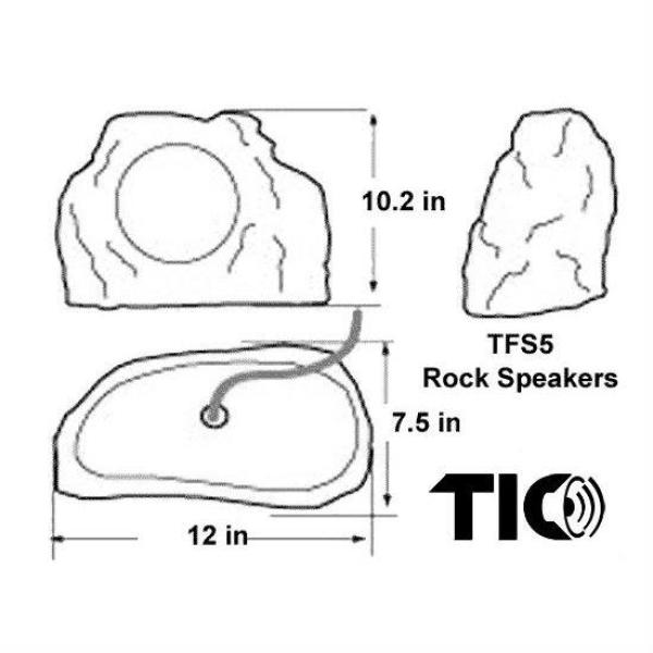 Tic 6 5 In Outdoor Weather Resistant Rock Speakers White Granite Pair Tfs5 Wg The Home Depot