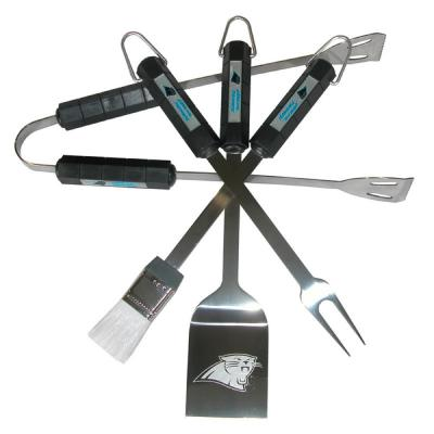 NFL Carolina Panthers 4-Piece Grill Tool Set
