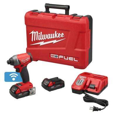 M18 FUEL with ONE-KEY 18-Volt Lithium-Ion Brushless 1/4 in. Cordless Hex Impact Driver Kit