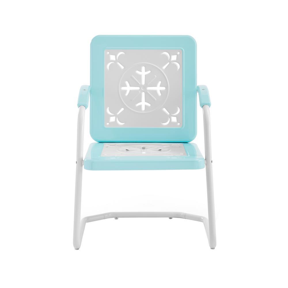 Azalea Turquoise Metal Outdoor Lounge Chair