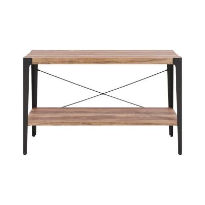 Oakdale Ranch Distressed Wood Finish Modern Industrial Console Table