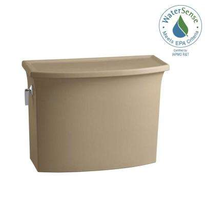 Archer 1.28 GPF Single Flush Toilet Tank Only with AquaPiston Flushing Technology in Mexican Sand