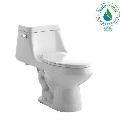 Fairfield 1-Piece 1.28 GPF Single Flush Elongated Toilet in White