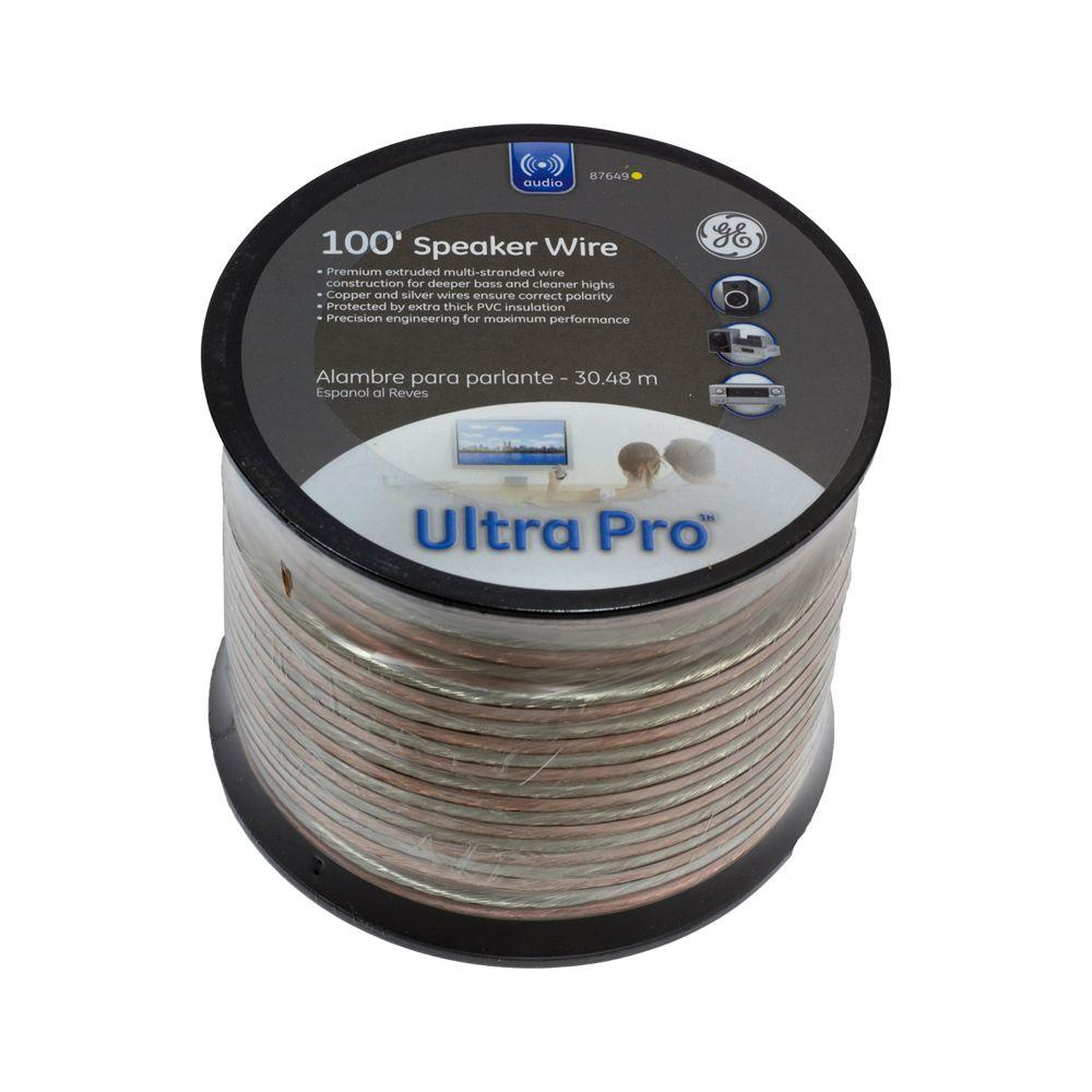 GE 100 ft. 14-Gauge Speaker wire - clear style