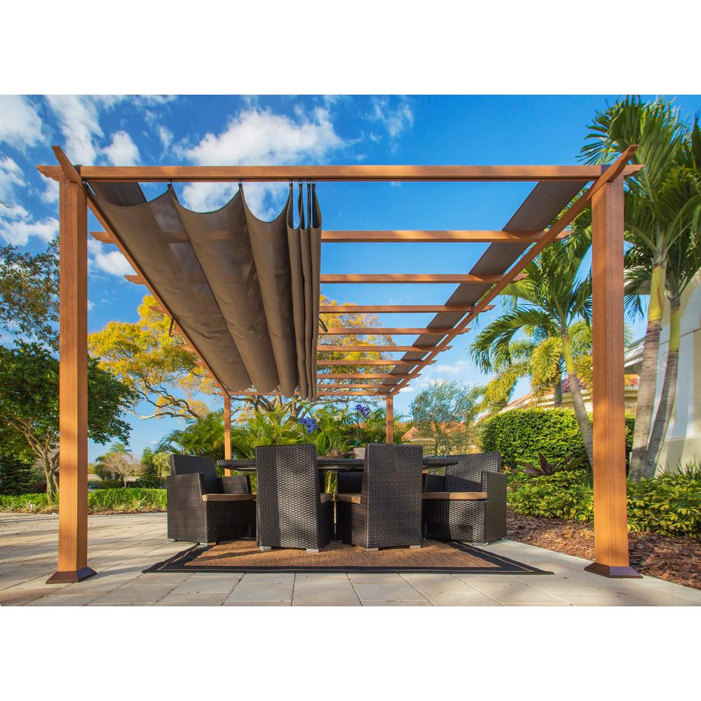 Paragon Outdoor Paragon 11 Ft X 16 Ft Aluminum Pergola With The