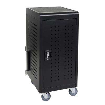 20 in. x 21 in. 24-Capacity Tablet Charging Cart in Black