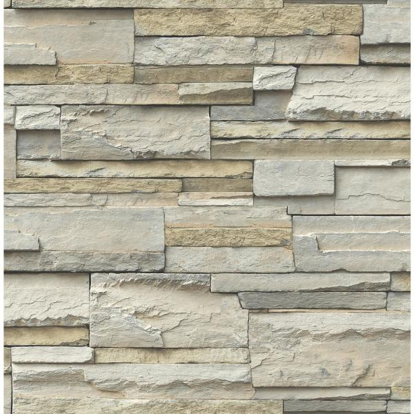 Nuwallpaper Stone Slate Peel And Stick Wallpaper Roll Nu2675 The