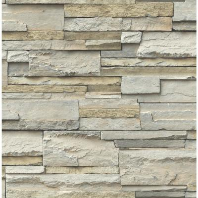 Stone Slate Peel and Stick Wallpaper Sample