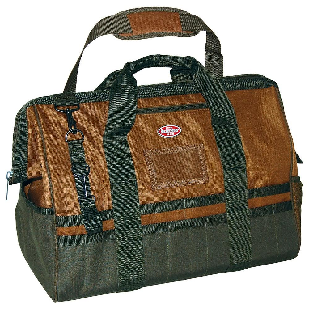 Gatemouth 20 in. Tool Bag, Brown and Green