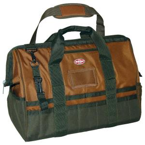 Bucket Boss Gatemouth 20 inch Tool Bag, Brown and Green by Bucket Boss