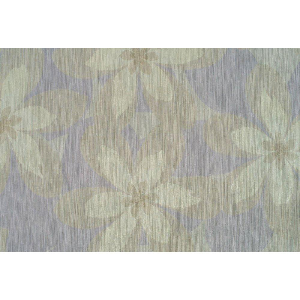 Washington Wallcoverings Lavender Textured Floral Wallpaper