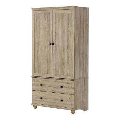 Hopedale Rustic Oak Armoire