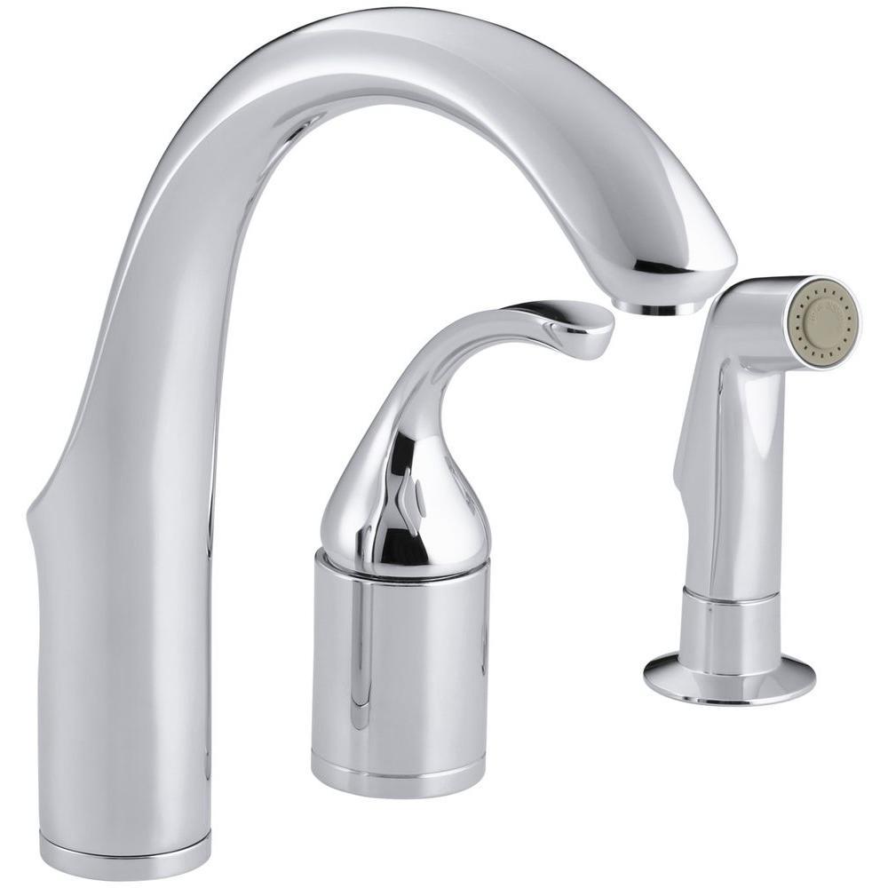 Kohler Forte Single Handle Bar Faucet In Polished Chrome K 10441 Cp The Home Depot