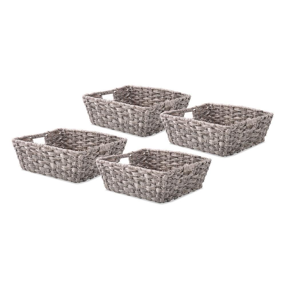 0.2 Gal. Gray Wash Storage Tote (Set of 4)