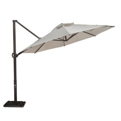 11 ft. Cantilever Push Tilt Patio Umbrella in Beige