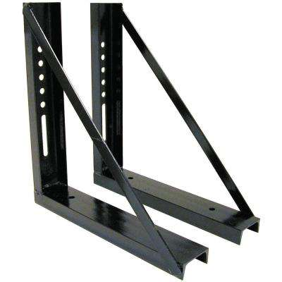 18 in. x 18 in. Bolted Structural Steel Truck Box Mounting Brackets