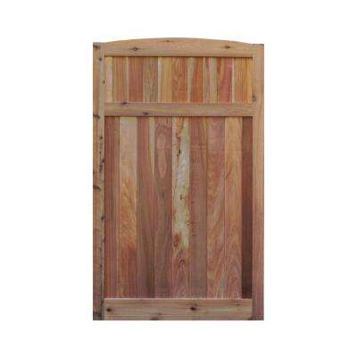 3.5 ft. H W x 6 ft. H H Western Red Cedar Arch Top Solid Lattice Fence Gate