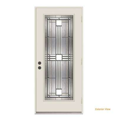 36 In. X 80 In. Full Lite Cordova Primed Impact Rated Steel Prehung