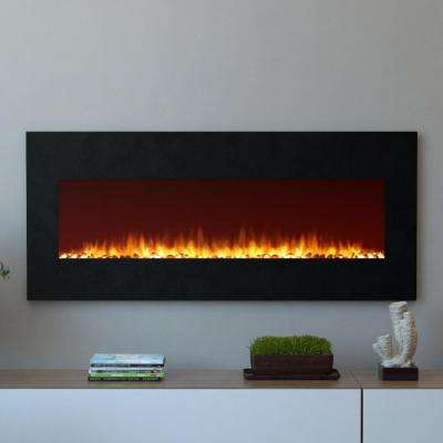 Oxford 50 in. Wall Mounted Electric Fireplace in Black