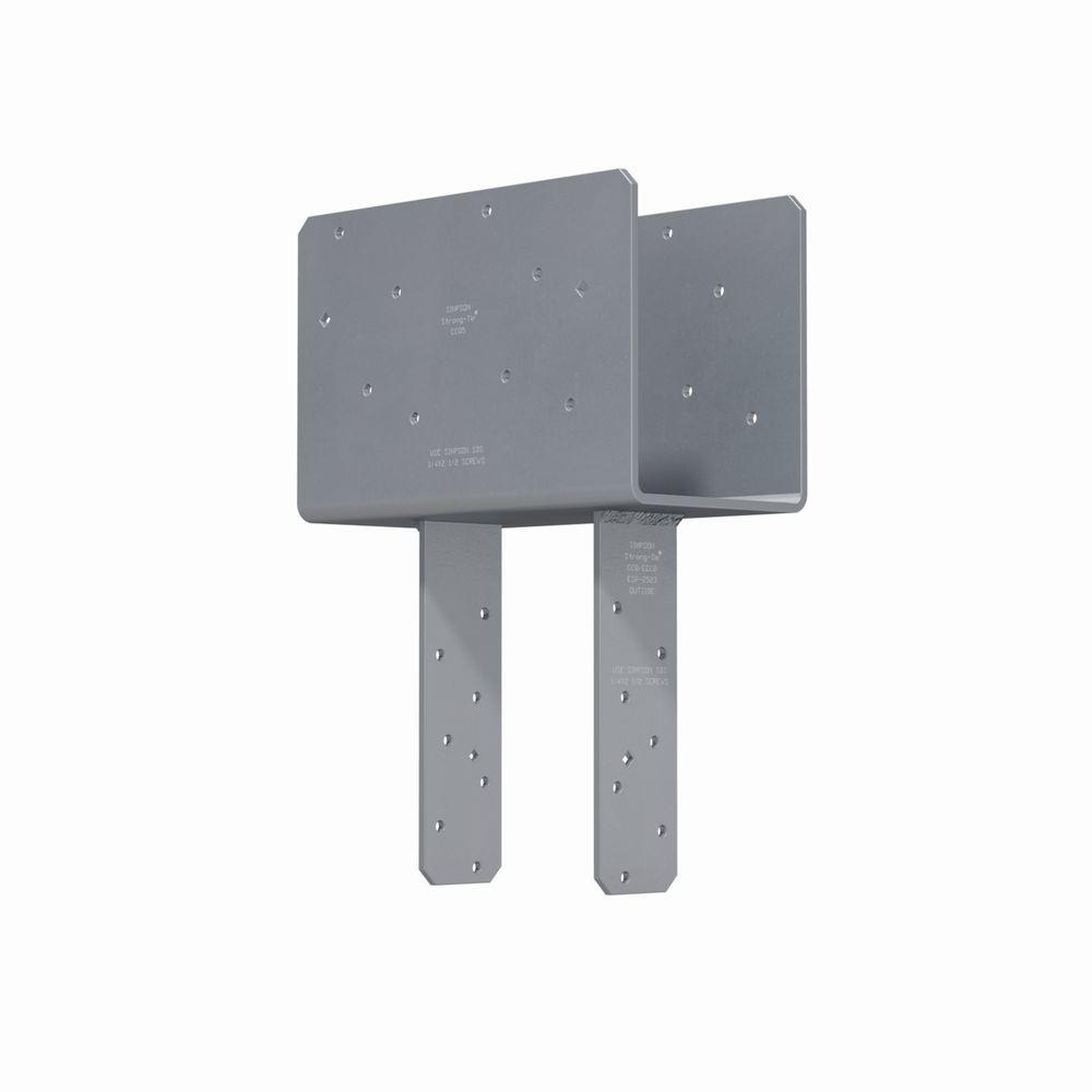 Simpson Strong-Tie CCQ Column Cap for 5-1/8 in. Beam, 6x Post with Strong-Drive® SDS Screws