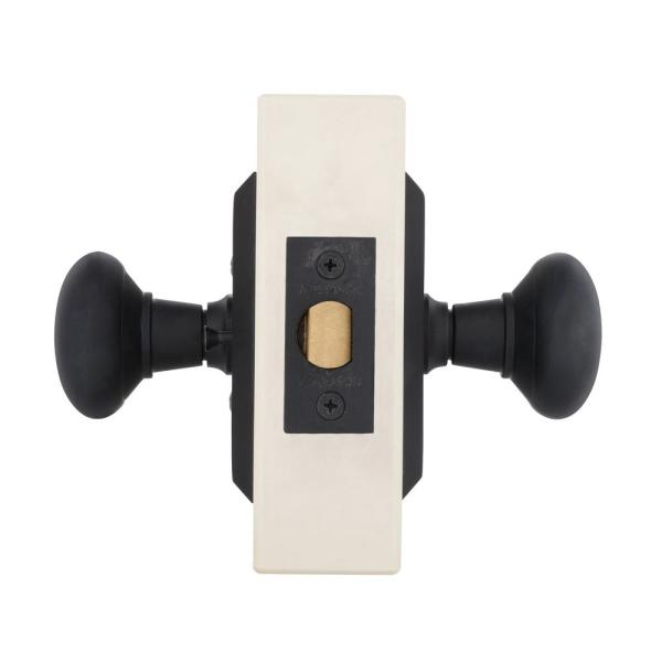 Nostalgic Warehouse Studio Plate 2 3 4 In Backset Oil Rubbed Bronze Passage Hall Closet New York Door Knob 709802 The Home Depot