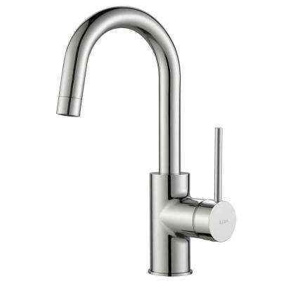 Oletto Single Handle Kitchen Bar Faucet in Chrome Finish