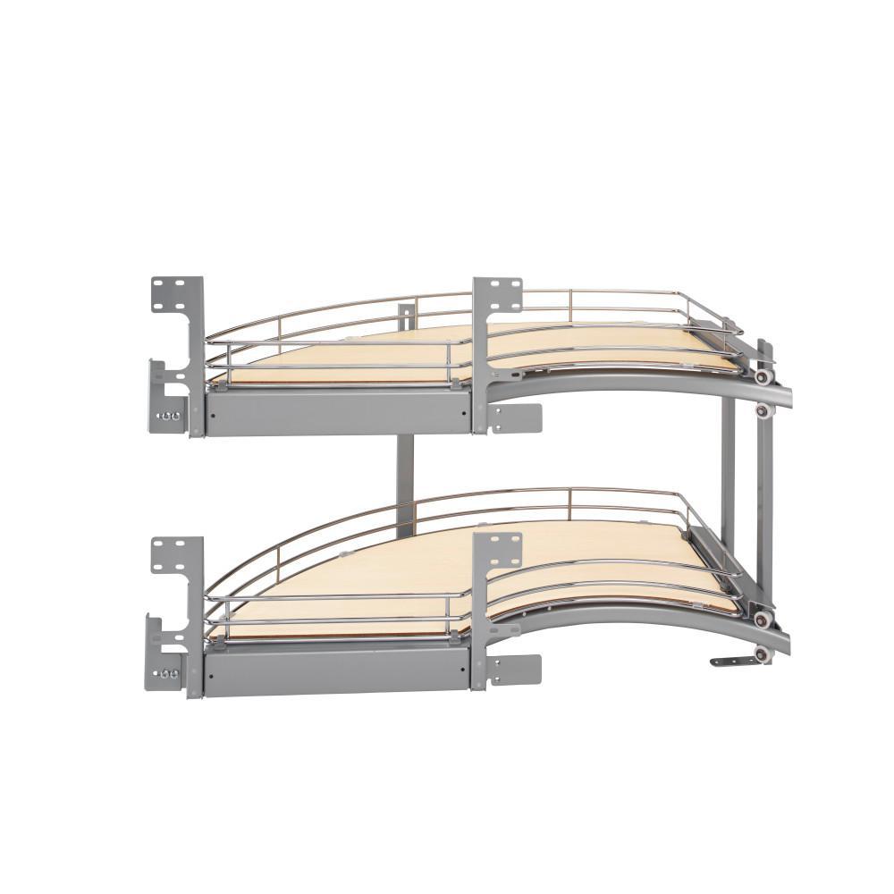 Rev-A-Shelf 18 in. 2-Tier Curve Blind Corner Org (Left)