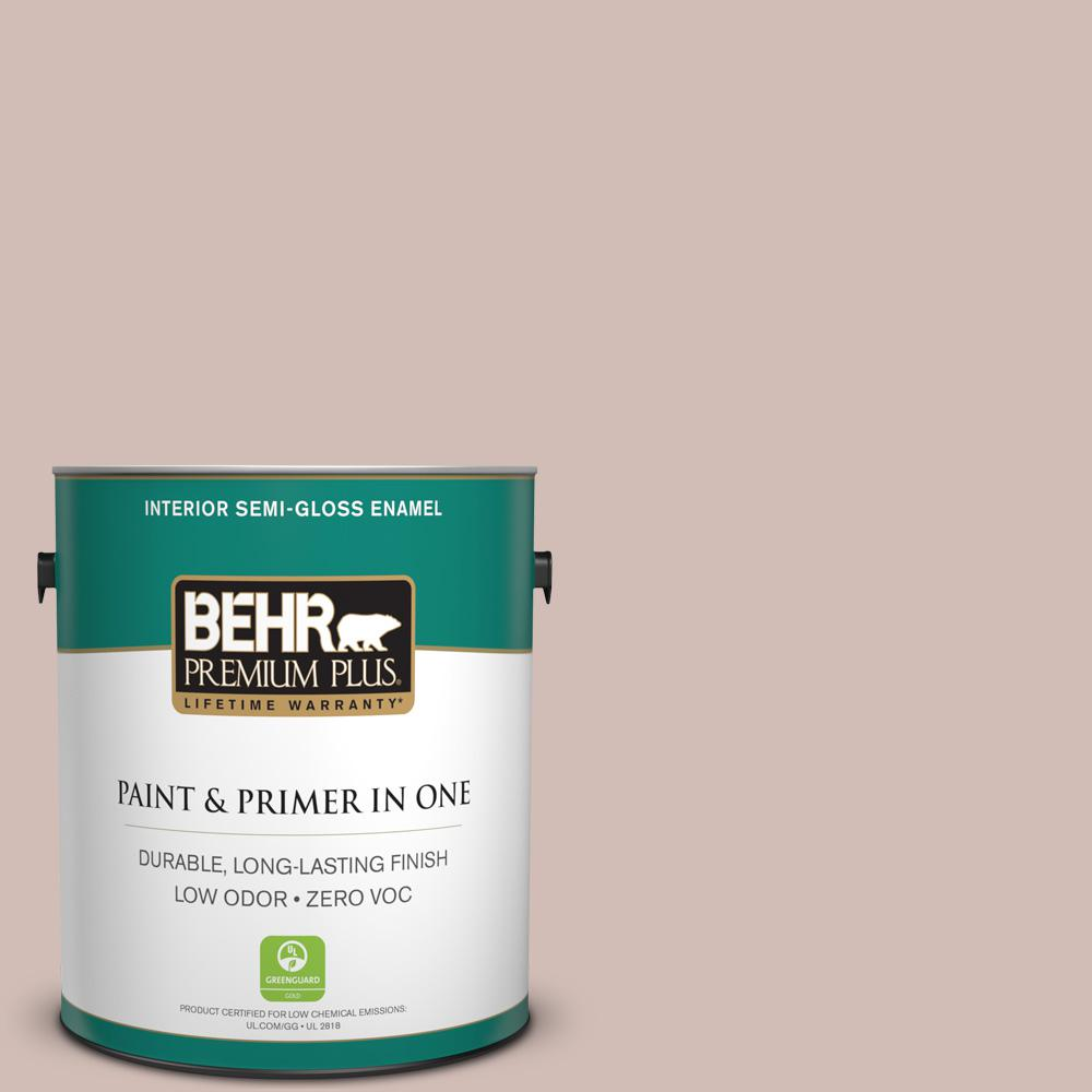 BEHR Premium Plus 1 gal. #ECC-28-1 Summer Bloom Semi-Gloss Enamel Zero VOC Interior Paint and Primer in One