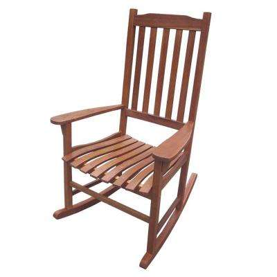 Exceptionnel Wood Natural Stained Outdoor Rocking Chair