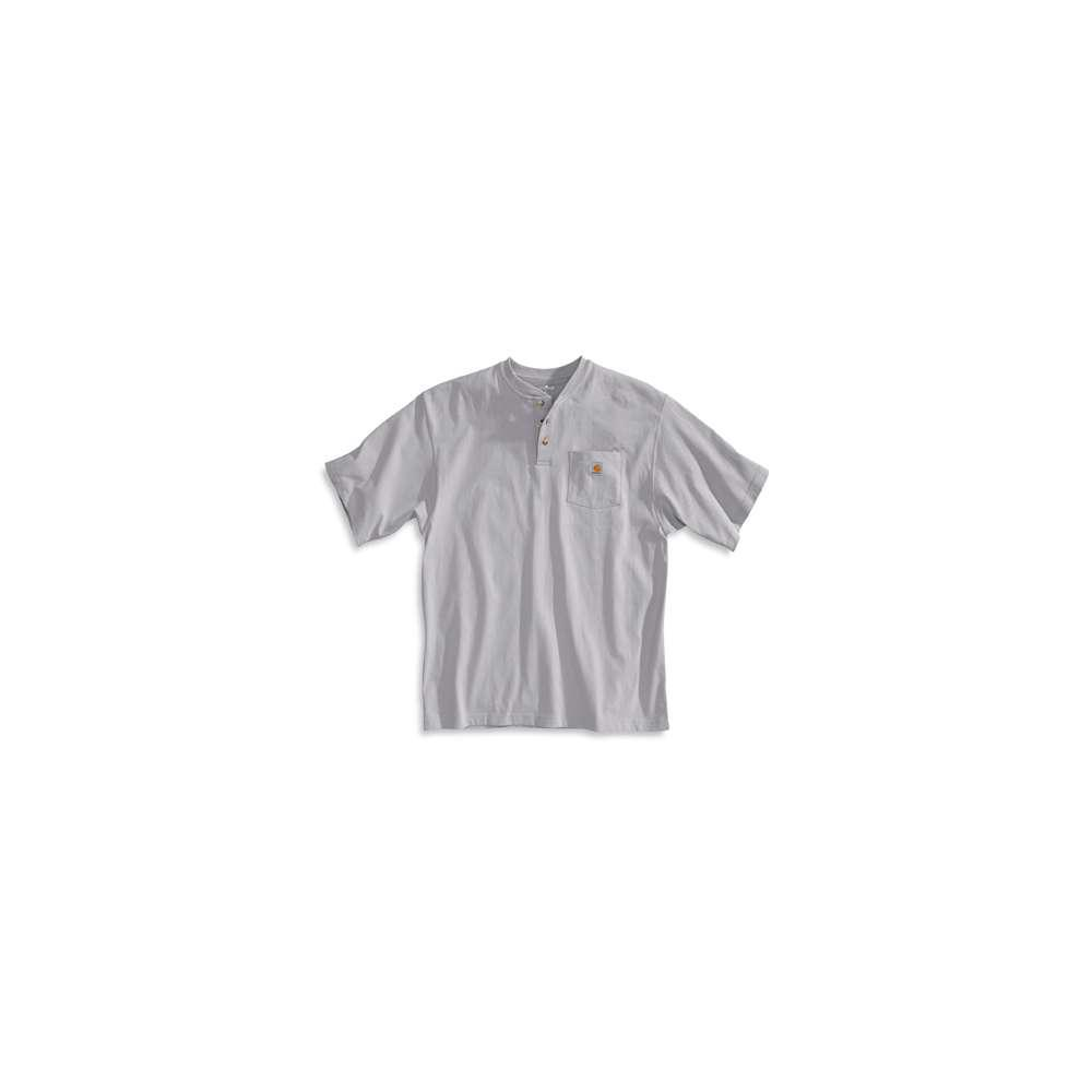 Men's Regular Large Heather Gray Cotton/Polyester Short-Sleeve T-Shirt