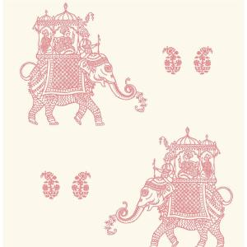 A-Street Ophelia Blue Elephant Wallpaper 1014-001837 - The Home Depot