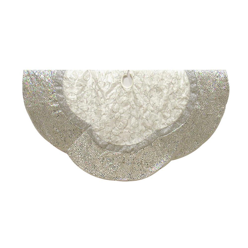 silver treeskirt - Silver Christmas Tree Skirt
