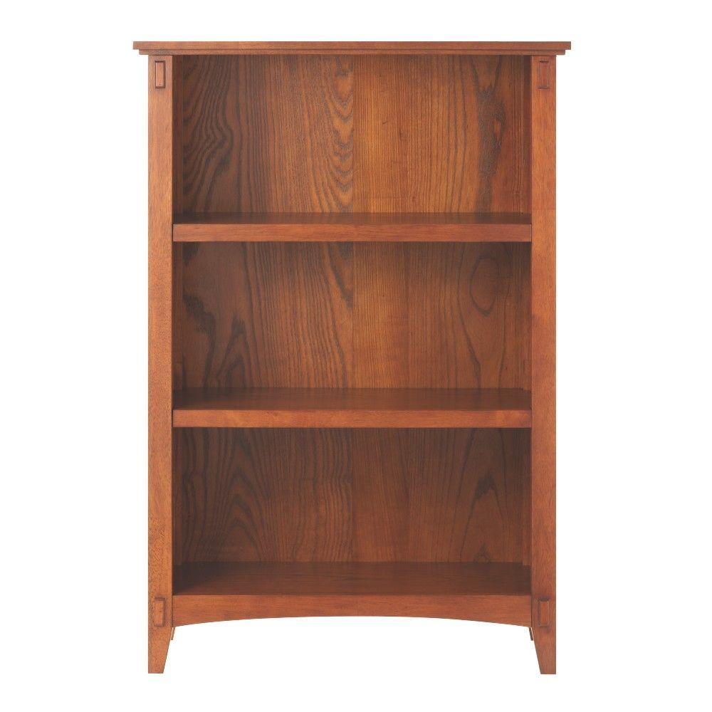 Home Decorators Collection Artisan Medium Oak Open Bookcase